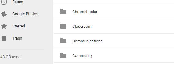 Classroom Drive Folder