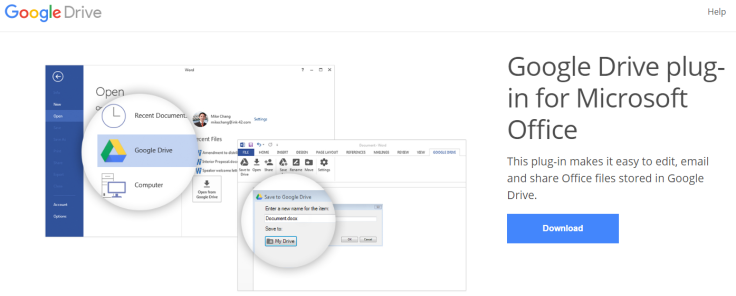 Google Drive for Microsoft Office Plug-In