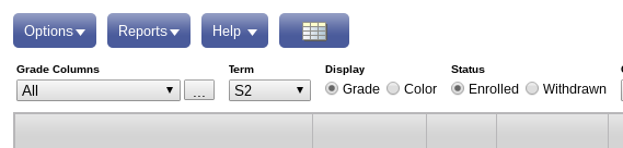 Gradebook View Settings
